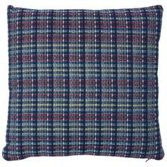 Schumacher Zealand Check Pillow in Navy Multi