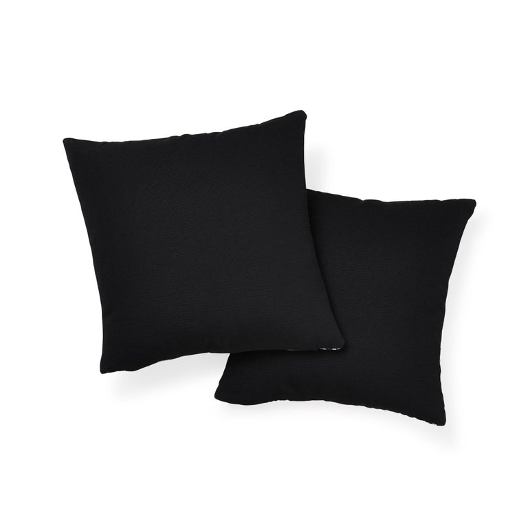 Schumacher Zebra Palm Indoor/Outdoor Black Pillow In New Condition For Sale In New York, NY