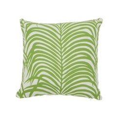 Schumacher Zebra Palm Indoor/Outdoor Leaf Pillow