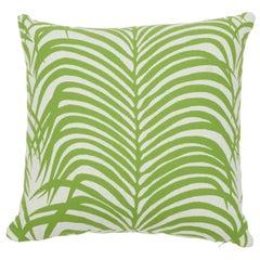 Schumacher Zebra Palm Indoor/Outdoor Leaf Pillow