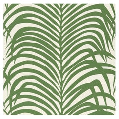 Schumacher Zebra Palm Wallpaper in Jungle