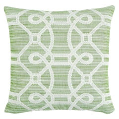 "Schumacher Ziz Embroidery 18"" Pillow"