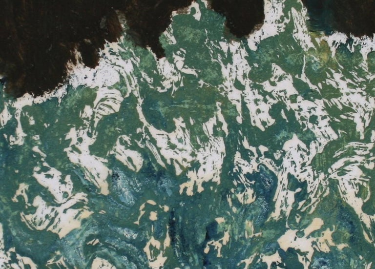 Abstracted Greenery Late 20th Century Oil on Paper - Painting by Schuyler Standish