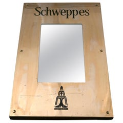 Schweppes Brass Hotel Menu Board Mirror