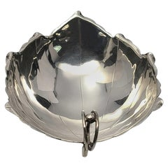 Sciarrotta Handmade Sterling Silver 83C Large Leaf Dish for Gump's
