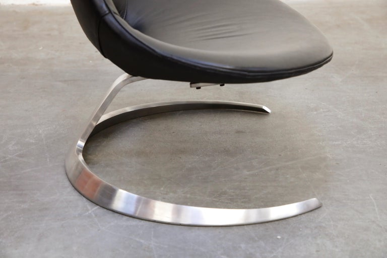 'Scimitar' Chair by Fabricius & Kastholm for Ivan Schlecter, Signed, 1960s For Sale 6