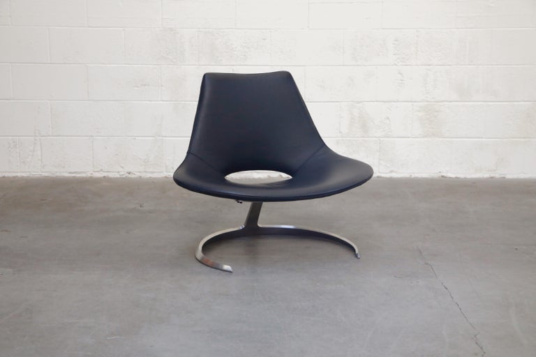 'Scimitar' Chair by Fabricius & Kastholm for Ivan Schlecter, Signed, 1960s In Excellent Condition For Sale In Los Angeles, CA