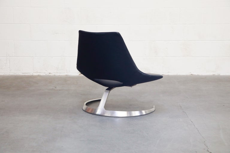 'Scimitar' Chair by Fabricius & Kastholm for Ivan Schlecter, Signed, 1960s For Sale 2
