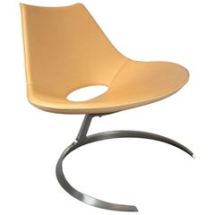 Scimitar Chair by Preben Fabricius & Jørgen Kastholm for Bo-Ex in Cognac Leather