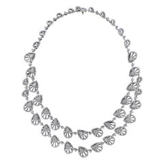 Scintillating 18 Karat White Gold and Diamond Wedding and Engagement Necklace