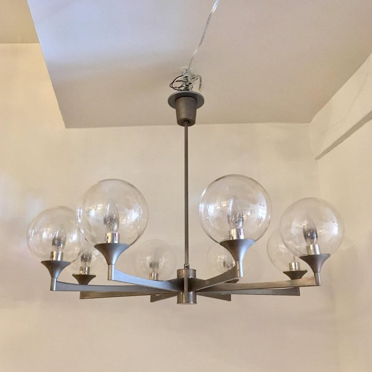 Sciolari 1970s Italian Pendant Midcentury Chandelier In Excellent Condition For Sale In New York, NY