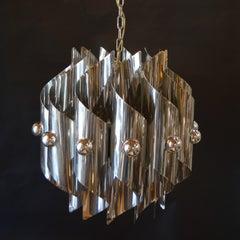 Sciolari metal plated 12 lights Chandeliers, 1952