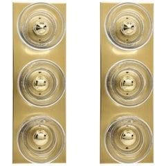 Sciolari Style 3-Light, Brass Sconces