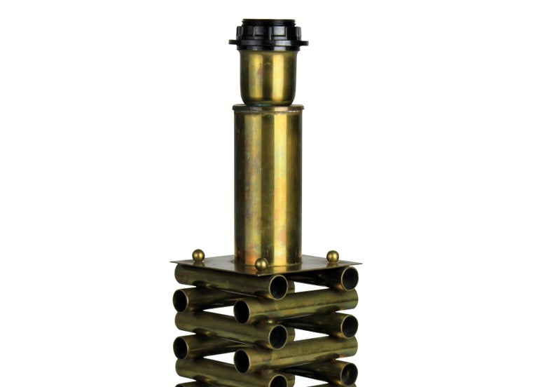 Sciolari Table Lamp in Brass In Good Condition In London, GB