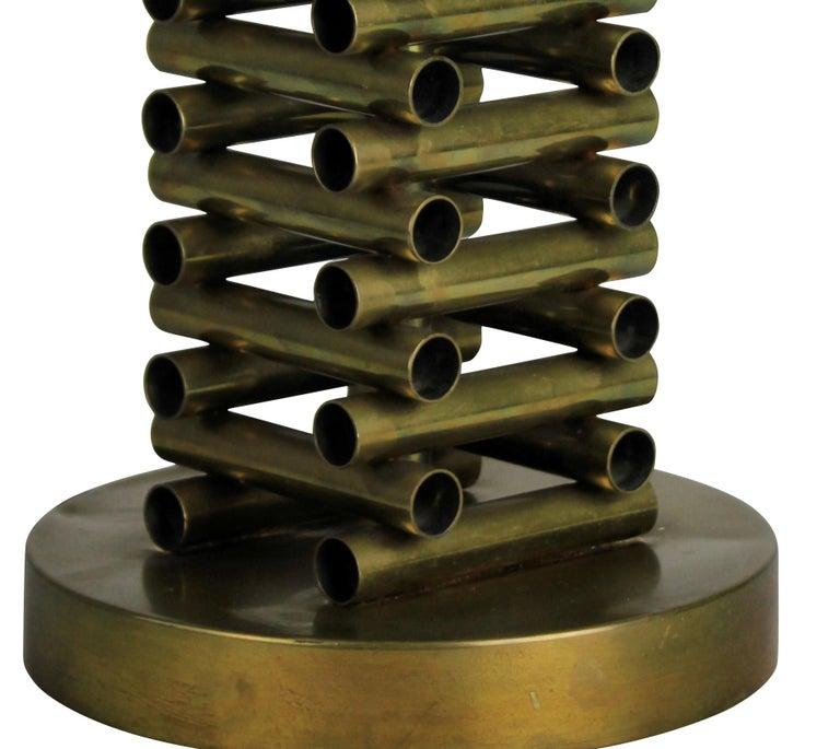 Mid-20th Century Sciolari Table Lamp in Brass