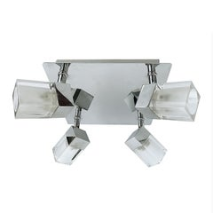 Sciolari, Wall or Ceiling Light in Chromed Steel, 4 Adjustable Lights, Italy