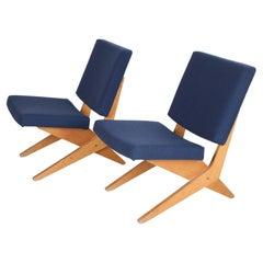 Scissor Armchair Designed by Jan van Grunsven for Pastoe, 1950s Set FB18