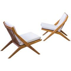 """""""Scissor"""" Lounge Chairs by Folke Ohlsson"""