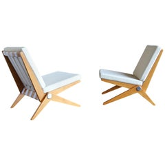 Scissor Lounge Chairs by Pierre Jeanneret for Knoll International
