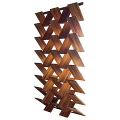 Scissor Wall Room Divider in Teak