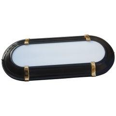 Sconce Black Gold Color Italian Design 1970 Sottsass Stile Plexiglass White