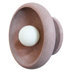 Sconce in Hand Carved Rose Stone, Piedra Lighting Collection