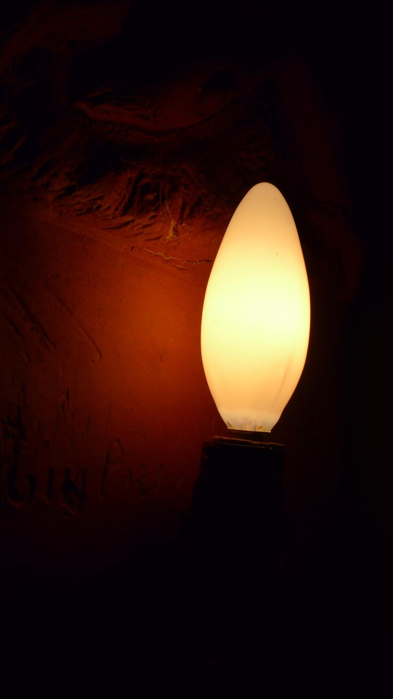 18th Century Sconce Light from French Terracotta Garden Stone Signed by Artist, circa 1700s For Sale