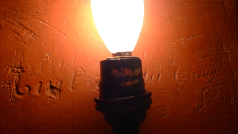 Sconce Light from French Terracotta Garden Stone Signed by Artist, circa 1700s For Sale 1