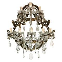 Maria Teresa Style Big Crystal Italian Venetian Sconce 8 lights