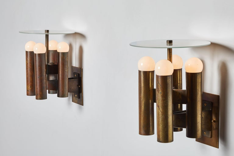 Mid-Century Modern Sconces by Lumi For Sale