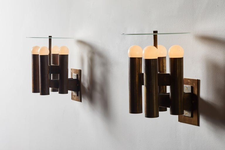 Italian Sconces by Lumi For Sale