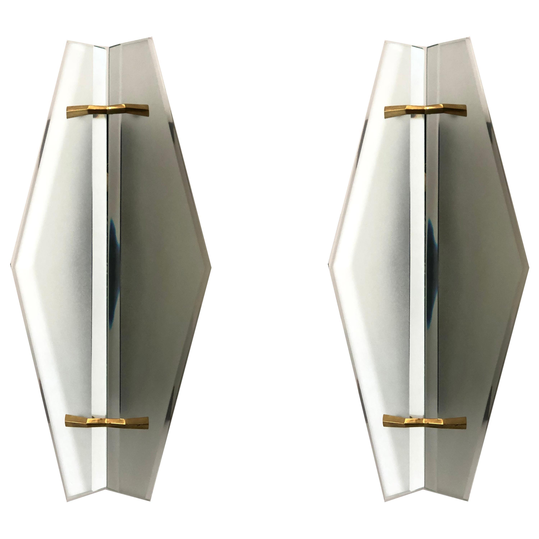 Sconces by Max Ingrand for Fontana Arte