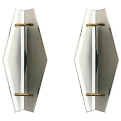 Sconces by Max Ingrand for Fontana Arte