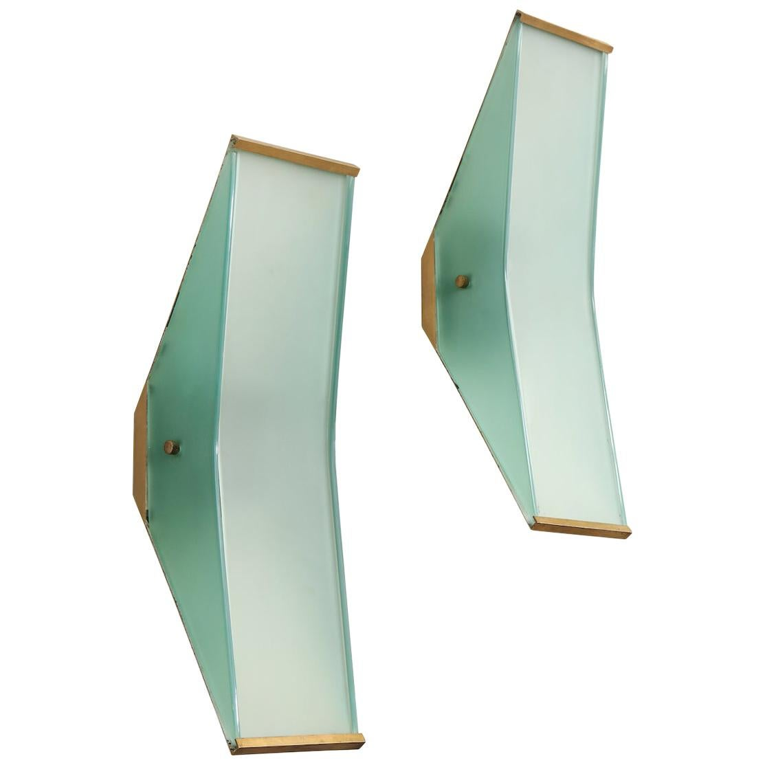 Max Ingrand for Fontana Arte Sconces