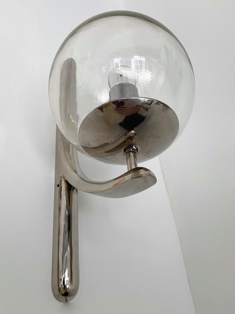Sconces Silvered Bronze Murano Glass by Venini, 1980s For Sale 3