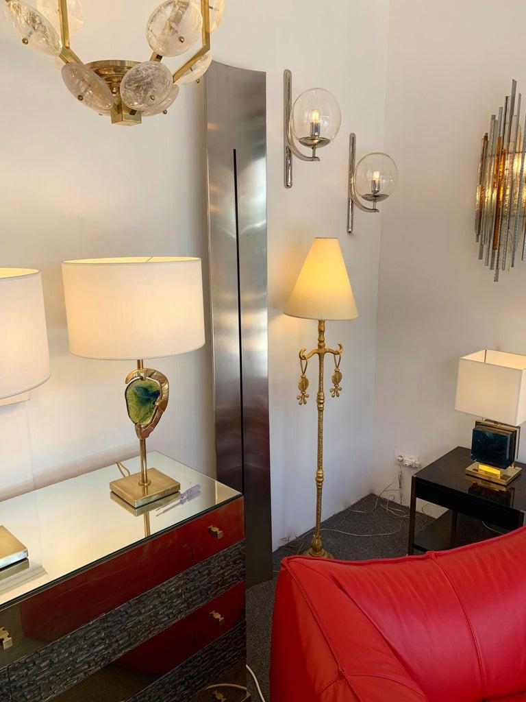 Sconces Silvered Bronze Murano Glass by Venini, 1980s For Sale 4