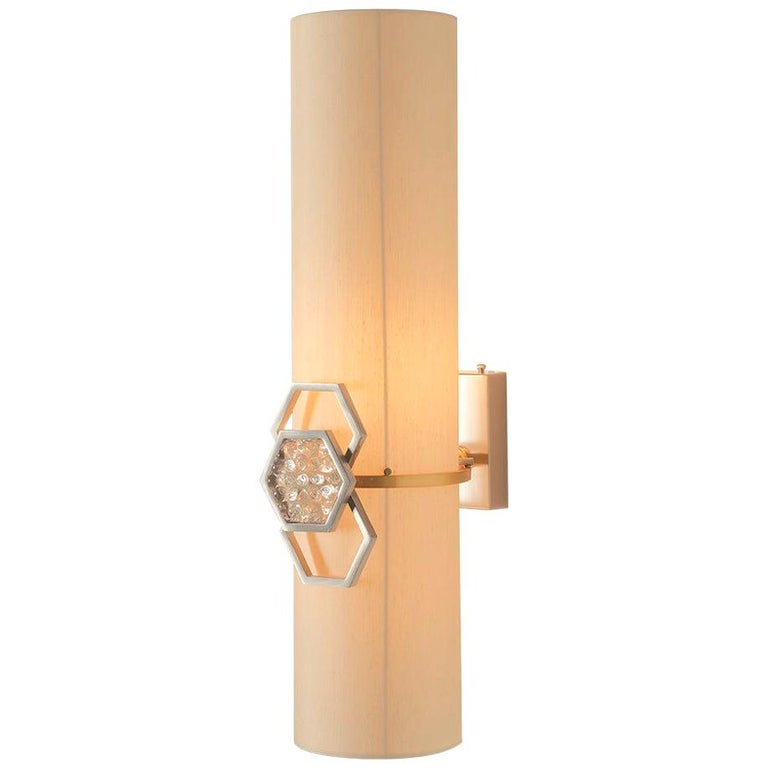 Sconces Wall Light Brass Lampshade Glass For Sale