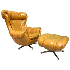 Scoop Lounge Chair and Ottoman by Carter