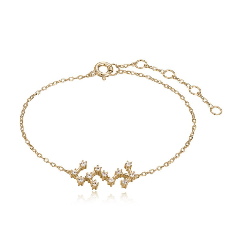 Trillion Cut Scorpio Constellation Bracelet For Sale