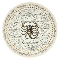 Scorpio, Zodiac Plate Series by Piero Fornasetti, 1973