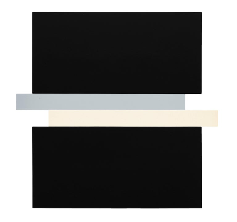 Scot Heywood Abstract Painting - Compression - Black, Gray, Canvas