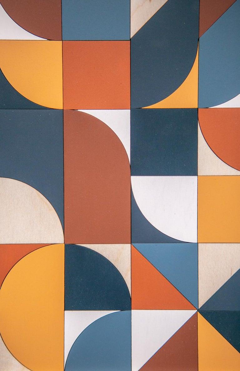 A NEW LANGUAGE - Brown Abstract Sculpture by Scott Albrecht
