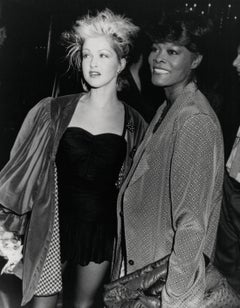 Cyndi Lauper Candid with Dionne Warwick Vintage Original Photograph