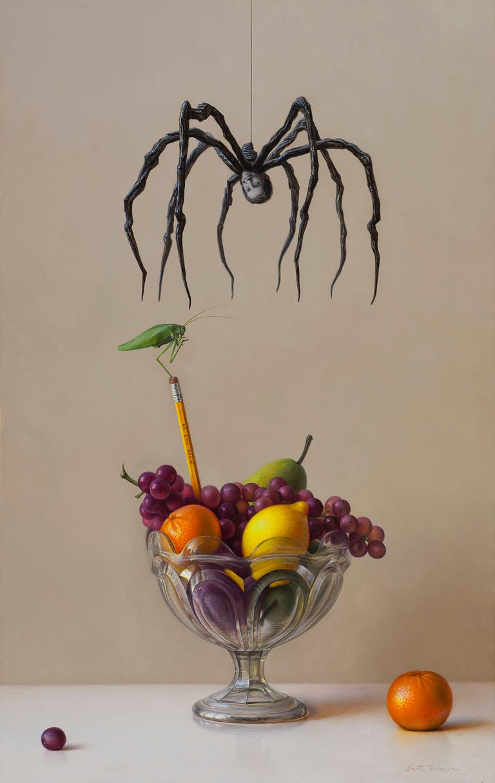 "Scott Fraser Still-Life Painting - ""Katy Didn't"", Oil Painting"