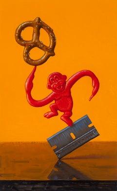 """Razor Monkey"", Oil Painting"