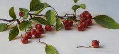Red Crabapples, Oil Painting