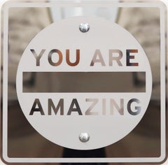 Stainless Steel Sculpture: Mirrored You Are Amazing