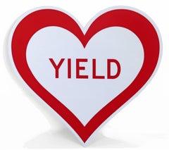 Stainless Steel Sculpture: Yield Heart