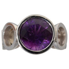 Scott Gauthier White Gold Ring with Amethyst