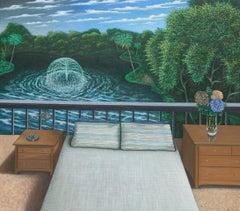 """Bedroom"" by Scott Kahn, circle of Matthew Wong, Theodoros Stamos"